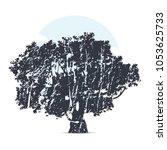 silhouette tree illustration | Shutterstock .eps vector #1053625733