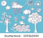 doodle design elements   nature ...   Shutterstock .eps vector #105363434