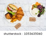 5 2 fasting diet concept. two... | Shutterstock . vector #1053635060