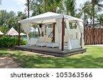 Luxury White Tent In The Garden