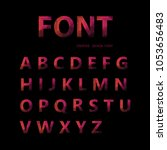 vector alphabet set geometric... | Shutterstock .eps vector #1053656483