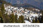 winter in the swiss alps ...   Shutterstock . vector #1053658256