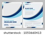 brochure layout template  cover ... | Shutterstock .eps vector #1053660413