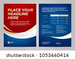 layout template design of the... | Shutterstock .eps vector #1053660416
