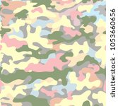 camouflage for printing.summer... | Shutterstock .eps vector #1053660656