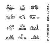 village line landscapes with... | Shutterstock . vector #1053664550