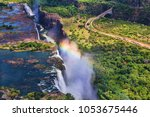 Rainbow Over Victoria Falls In...