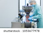 pharmacy industry woman worker... | Shutterstock . vector #1053677978