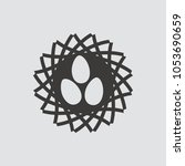 nest icon isolated of flat... | Shutterstock .eps vector #1053690659