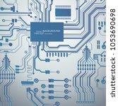 vector circuit board... | Shutterstock .eps vector #1053690698