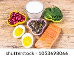 products containing a lot of...   Shutterstock . vector #1053698066