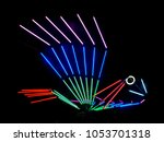 the colorful bird of neon... | Shutterstock . vector #1053701318