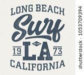 long beach california surf  ...   Shutterstock .eps vector #1053709394