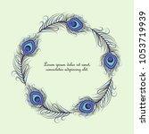 vector illustration of peacock... | Shutterstock .eps vector #1053719939