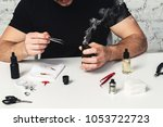 maintenance of electronic mod...   Shutterstock . vector #1053722723