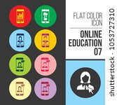 online education icon | Shutterstock .eps vector #1053727310