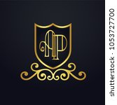 ap letter logo. design vector... | Shutterstock .eps vector #1053727700