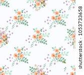 simple cute pattern in small... | Shutterstock . vector #1053733658