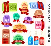 sale and discount price tags ... | Shutterstock . vector #1053736190