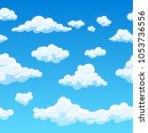 cloud  background. endless... | Shutterstock . vector #1053736556
