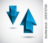 3d blue  cyan  arrows set with...