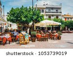 mochos  crete   june 13  2017 ... | Shutterstock . vector #1053739019