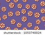seamless pattern. embossed... | Shutterstock .eps vector #1053740024