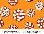 seamless pattern. embossed... | Shutterstock .eps vector #1053740054