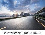 shanghai city skyline  road... | Shutterstock . vector #1053740333
