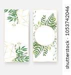 wedding invitation card...   Shutterstock .eps vector #1053742046