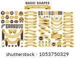 ribbon vintage vector logo for... | Shutterstock .eps vector #1053750329