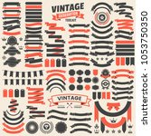 ribbon vintage vector logo for... | Shutterstock .eps vector #1053750350