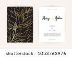 vintage wedding invitation...   Shutterstock .eps vector #1053763976