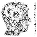 intellect gears mosaic of gear... | Shutterstock .eps vector #1053766538