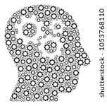 intellect gears composition of... | Shutterstock .eps vector #1053768110