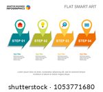 four steps process chart.... | Shutterstock .eps vector #1053771680