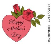happy mother's day poster with... | Shutterstock .eps vector #1053772934