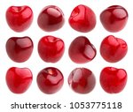isolated cherry. collection of... | Shutterstock . vector #1053775118