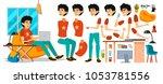 junior business man character.... | Shutterstock . vector #1053781556