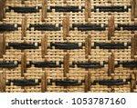Wicker Wood Texture Background...