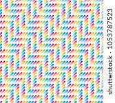 multicolor strokes seamless...   Shutterstock .eps vector #1053787523