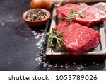 fresh meat with ingredients for ... | Shutterstock . vector #1053789026