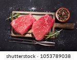 fresh meat with ingredients for ... | Shutterstock . vector #1053789038