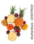exotic fruit food   a lot of... | Shutterstock . vector #105379019