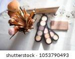 equipment of makeup artist | Shutterstock . vector #1053790493