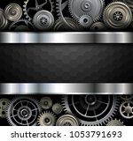 elegant background  gold and... | Shutterstock .eps vector #1053791693