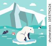 save oceans concept.... | Shutterstock .eps vector #1053792626