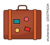 travel suitcase icon  | Shutterstock .eps vector #1053795224