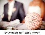 beautiful wedding bouquet   Shutterstock . vector #105379994