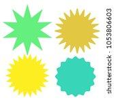 set of multicolor blank labels...   Shutterstock .eps vector #1053806603